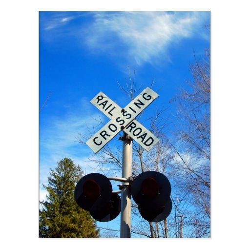 Railroad Crossing Post Card