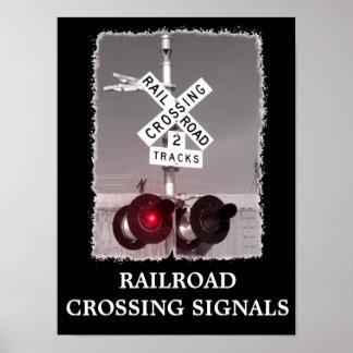 Railroad Crossing Poster