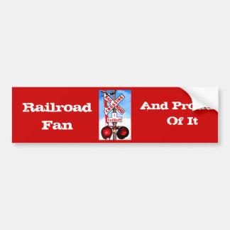 Railroad Crossing Railbuff Bumper Sticker