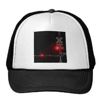 Railroad Crossing Red Lights Trucker Hat