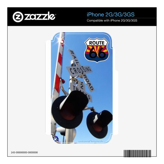 Railroad crossing route 66 Arizona iPhone 2G Decal