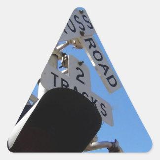railroad crossing Route 66 Shield Triangle Sticker