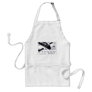 Railroad Crossing Safety 1906 Adult Apron