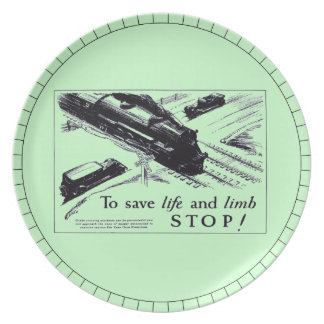 Railroad Crossing Safety 1906  Dinner Plates