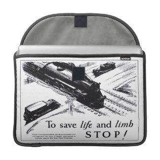 "Railroad Crossing Safety 1906 Macbook Pro 15"" Case MacBook Pro Sleeve"