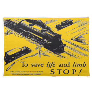 Railroad Crossing Safety 1906 Placemats Cloth Placemat
