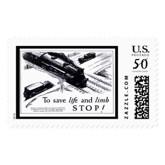 Railroad Crossing Safety 1906 Postage Stamps