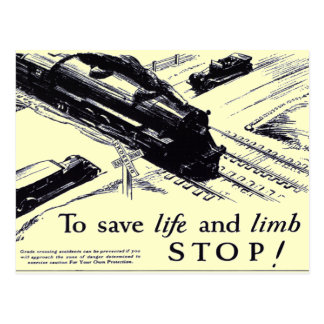 Railroad Crossing Safety 1906 Postcards