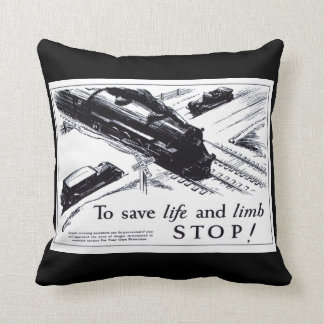 Railroad Crossing Safety 1906  Throw Pillow