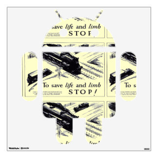 Railroad Crossing Safety 1906 Wall Sticker