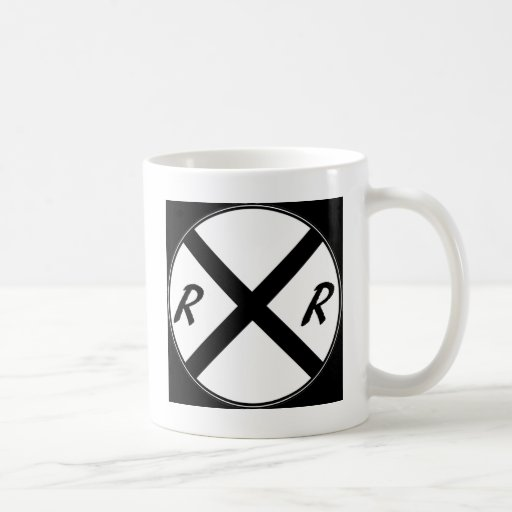 Railroad Crossing Sign Classic White Coffee Mug