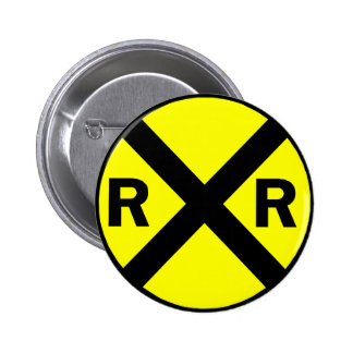 Railroad crossing sign round buttons