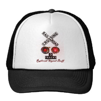 Railroad Crossing Signal Buff Hats