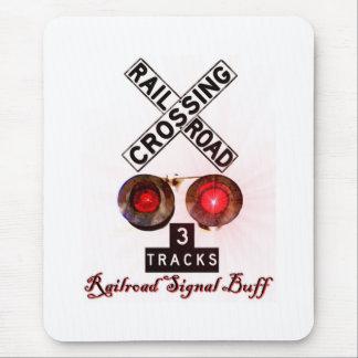Railroad Crossing Signal Buff Mouse Pad