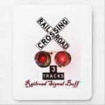 Railroad Crossing Signal Buff Mousepad