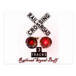 Railroad Crossing Signal Buff Postcards