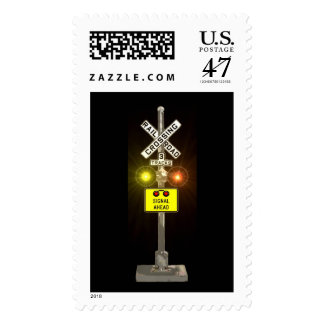Railroad Crossing Signal Postage Stamp