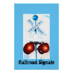 Railroad Crossing Signal Scenery Print