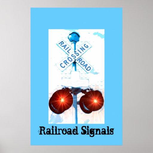 Railroad Crossing Signal Scenery Print