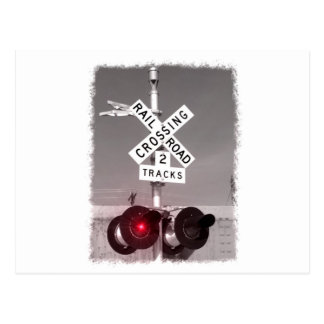 Railroad Crossing Signals Postcard