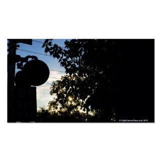 Railroad Crossing  Silhouette Double-Sided Standard Business Cards (Pack Of 100)