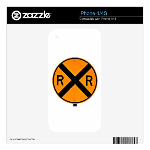 Railroad Crossing Skin For iPhone 4
