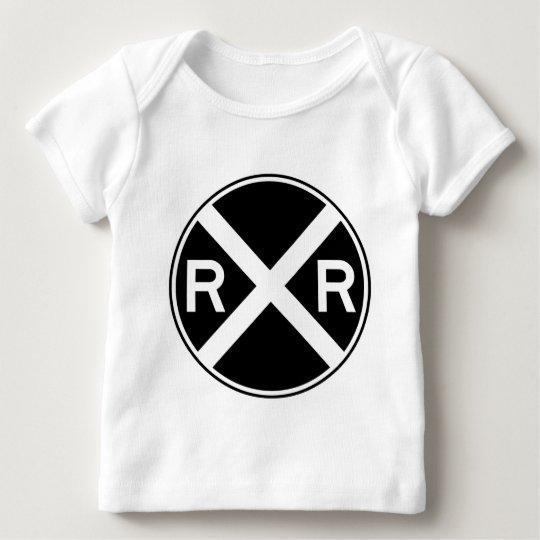 Railroad Crossing Warning Street Sign Train Baby T-Shirt