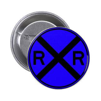 Railroad Crossing Warning Street Sign Train Button