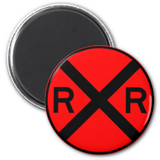 Railroad Crossing Warning Street Sign Train Magnet