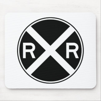 Railroad Crossing Warning Street Sign Train Mouse Pad