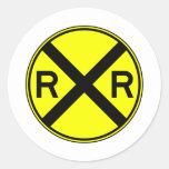 Railroad Crossing Warning Street Sign Train Sticker