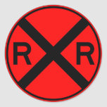 Railroad Crossing Warning Street Sign Train Stickers