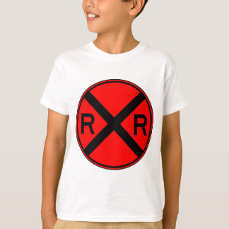 Railroad Crossing Warning Street Sign Train T-Shirt