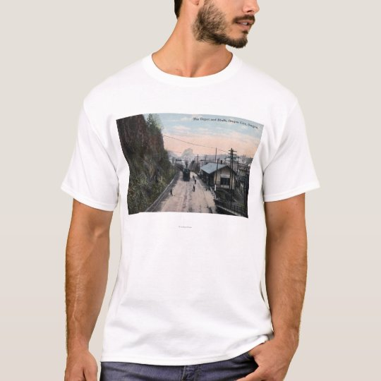 Railroad Depot and Bluffs City, OR T-Shirt