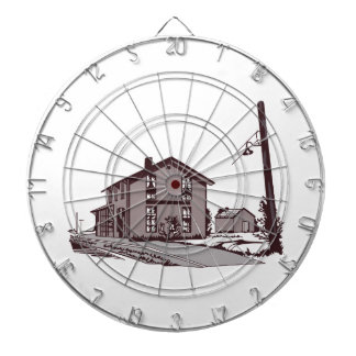 Railroad Depot Dartboard