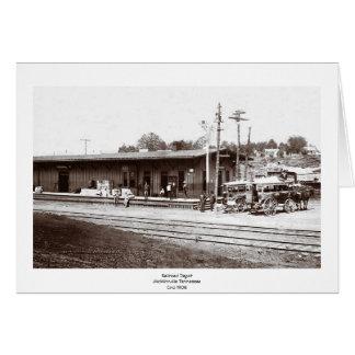 Railroad Depot McMinnville Tennessee Circi 1908 Card
