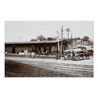 RailRoad Depot McMinnville Tennessee Circi 1908 Poster