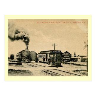 Railroad Depot Pompton New Jersey Vintage Postcards
