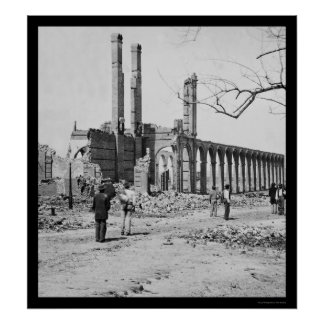 Railroad Depot Ruins in Charleston, SC 1865 Posters