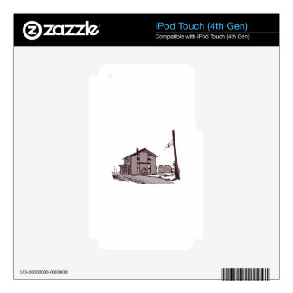 Railroad Depot iPod Touch 4G Decal