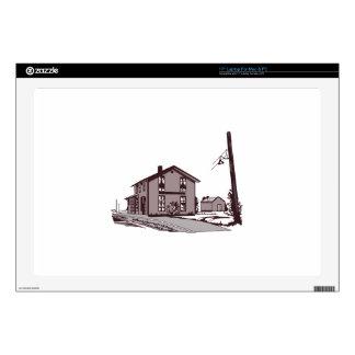 """Railroad Depot Skins For 17"""" Laptops"""