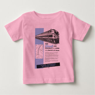 Railroad Diesels for The Vital R.F.& P. Route Baby Baby T-Shirt