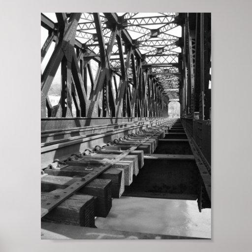 railroad el puente a través del río housatonic, co póster