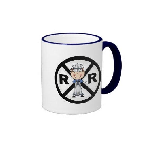 Railroad Engineer-Boy T-shirts and Gifts Ringer Coffee Mug