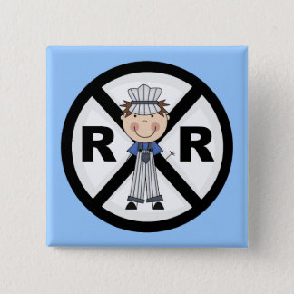 Railroad Engineer-Boy T-shirts and Gifts Pinback Button