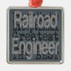 Railroad Engineer Extraordinaire Metal Ornament