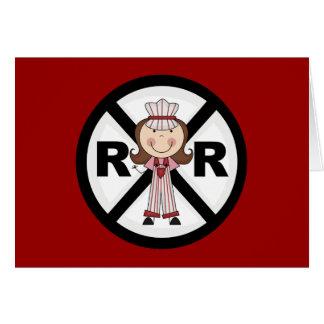Railroad Engineer -Girl Tshirts and Gifts Greeting Card