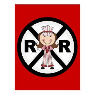 Railroad Engineer -Girl Tshirts and Gifts Postcard