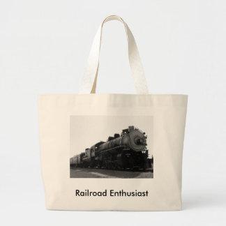Railroad Enthusiast Jumbo Tote Bag