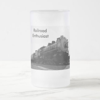 Railroad Enthusiast Frosted Glass Beer Mug